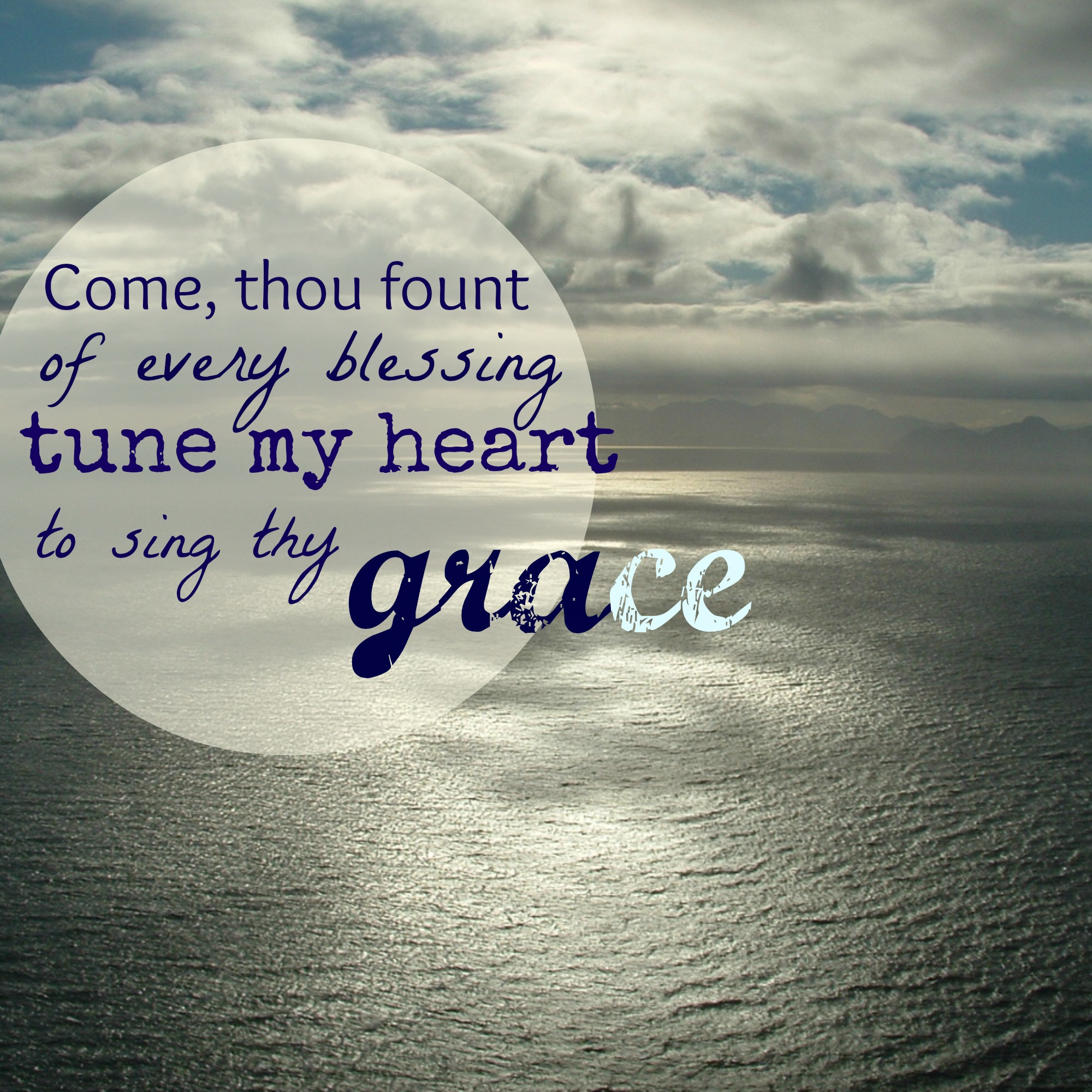 Come Thou Fount graphic