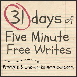 Five Minute Free Writes button