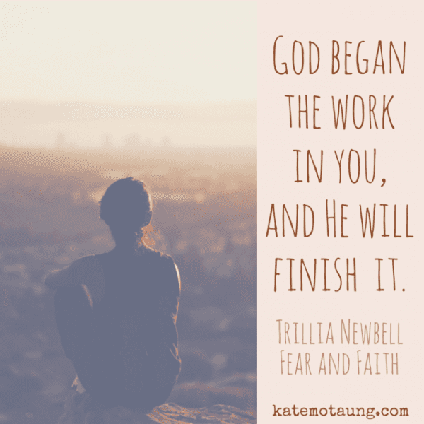 God began  the work   in you, and He