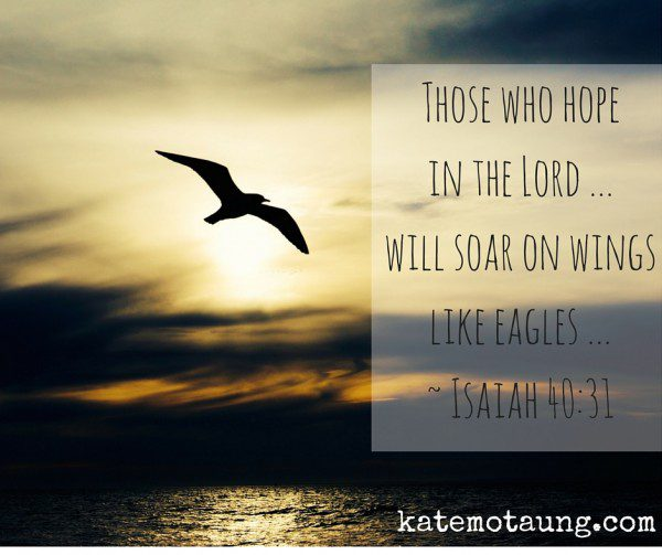 Those who hope in the Lord ... will soar on wingslike eagles ... ~ Isaiah 40_31