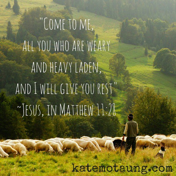 Come to me, and I will give you rest