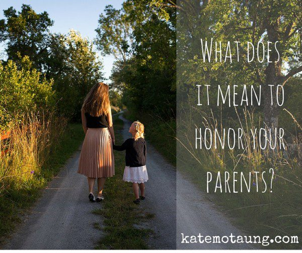 What does it mean to honor your parents_