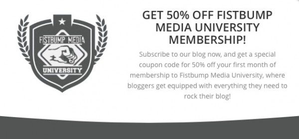 Fistbump Media University coupon