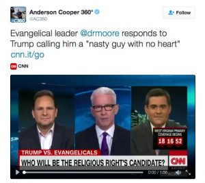 Screenshot from Anderson Cooper's Twitter account