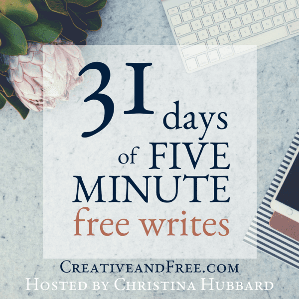 five minute free writes