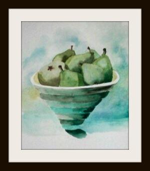 Pears framed