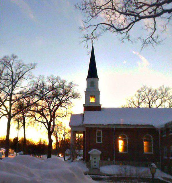 Sun through church windows 2