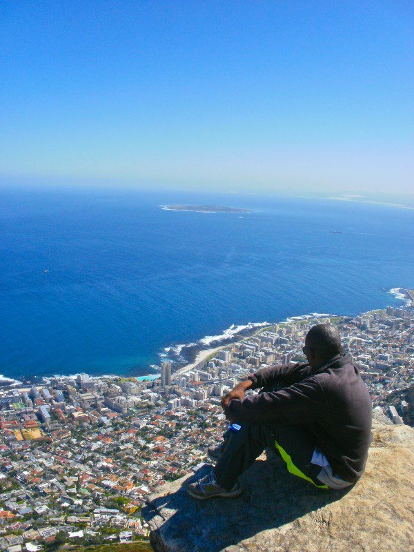 The view of Robben Island, from Lion's Head
