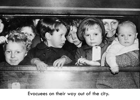 Children leave London under the civilian evacuation scheme.