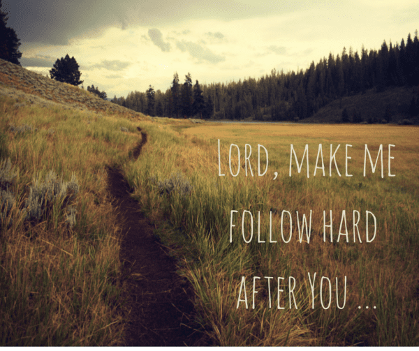 Lord, make me follow hard after You ...