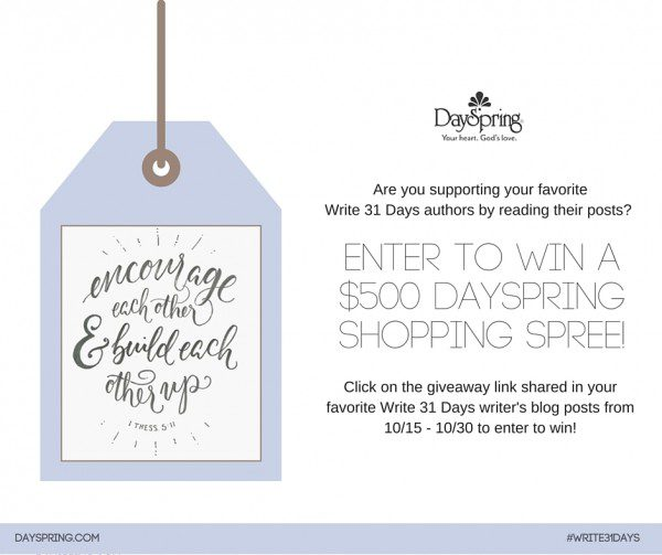 Dayspring giveaway